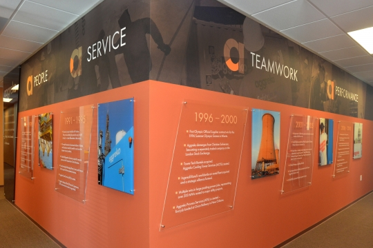 corporate interior signs and graphics